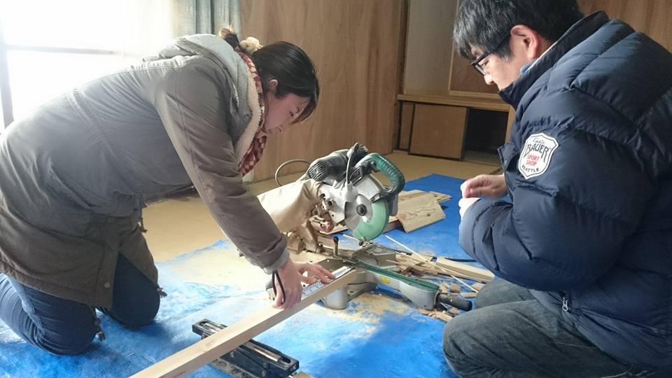 丸ノコで木材カット